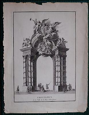 1745 Gran Blondel Folio Arcitecture Plan Arco Dauphine Palacio Festes De París Precio Razonable