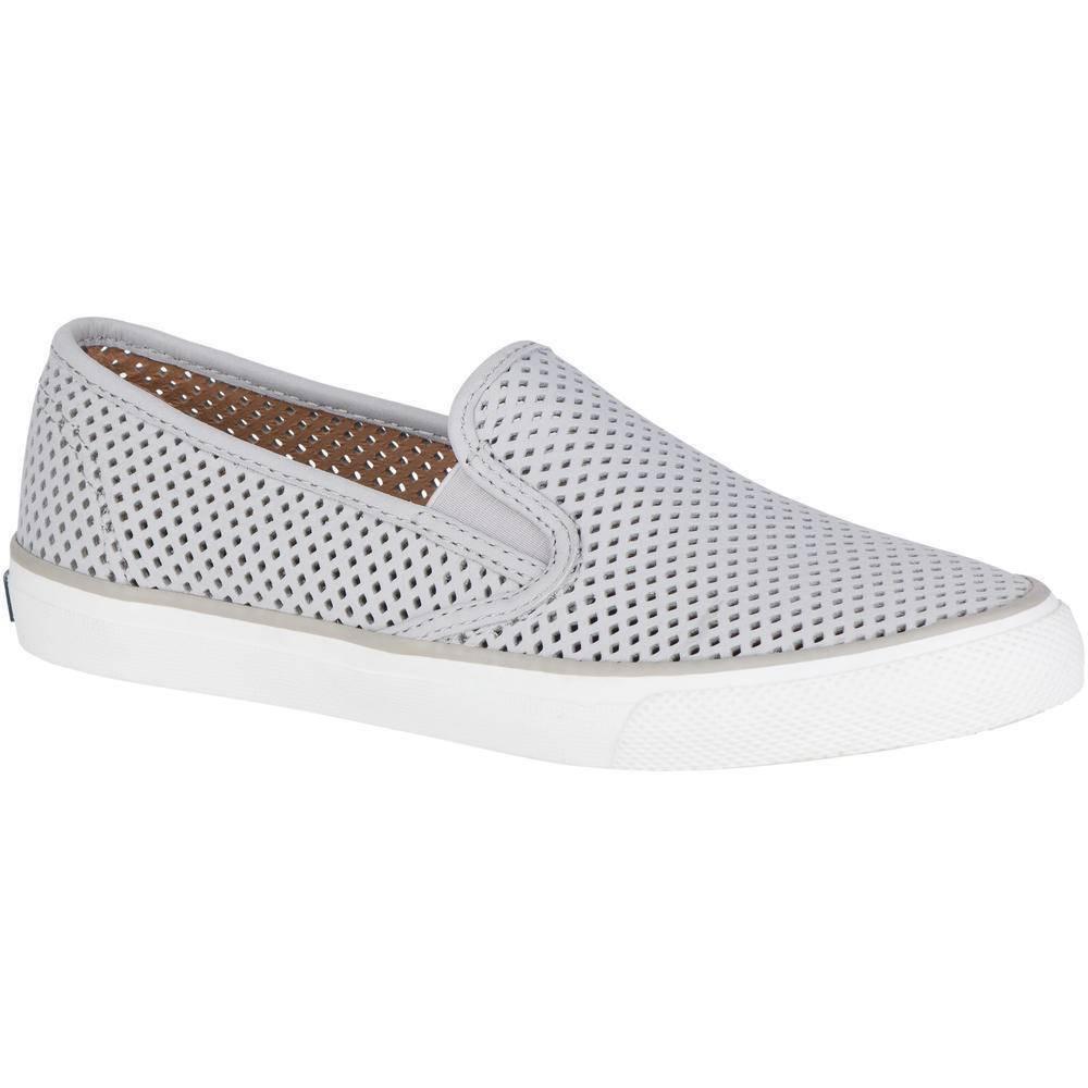 Nuevo En Caja Sperry Top-Sider Mar Mar Mar Perf Cuero Zapatos Náuticos gris para Mujer Talla 5.5 - 9.5  sin mínimo