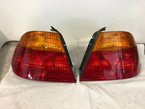 BMW-Genuine-E46-3-Series-Coupe-Tail-Lights-PAIR-L-amp-R-Amber-Up-To-03-2003-USED