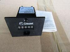 Crouzet 5 Digit Mechanical Counter, 115Vac - Panel Mount - H7 7263122