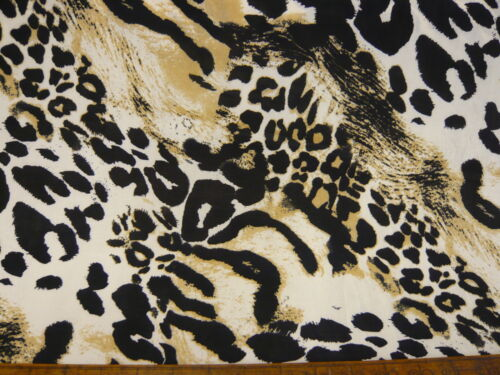 "10mts REALLY TOP QUALITY CHEETAH PRINT STRETCH JERSEY FABRIC 58/""wide"