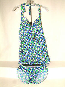 #28SS FABULOUS TANKINI FROM FIT 4 U, SIZE 8, HALTER STYLE TOP, BRIEF STYLE BOTT