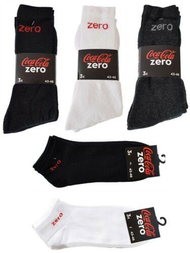COCA COLA ZERO Méga-Mix Chaussettes de sport//sneakersocken 39-42//43-46 Chaussettes
