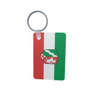 Schlüsselanhänger Flagge Fahne Nordrhein-Westfalen NRW Alu 40 x 57 mm