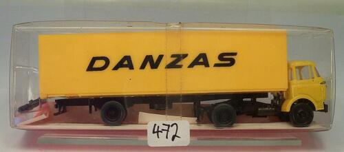 Roskopf 1//87 Nr 473 Berliet Kofferauflieger Danzas m Ladeklappe OVP #472