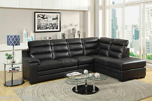 Image Is Loading Transitional Sectional Sofa  Couch Set Bonded Leather Living
