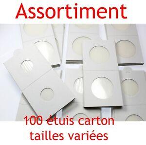 Assortiment-de-100-etuis-carton-autocollants-pour-pieces-de-monnaie-en-Franc