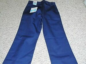K 12 Gear Girls Blue School Uniform Pants Flare Leg Size 14 Slim