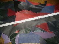Lederreste Lederhaut Lederstücke Bastelleder bunt sortiert 1,0 kg basteln