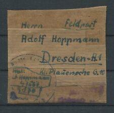 3. REICH FP FELDPOST PÄCKCHEN-ADRESSE FRONT-HEIMAT DRESDEN Mi 250.- a6785