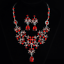 Fashion-Crystal-Pendant-Bib-Choker-Chain-Statement-Necklace-Earrings-Jewelry thumbnail 11