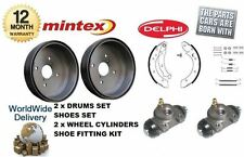 FOR CITROEN XSARA PICASSO REAR DRUMS & BRAKE SHOES & WHEEL CYLINDER & SHOE KIT