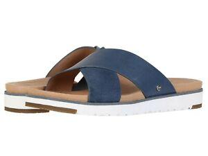 Women-039-s-Shoes-UGG-Kari-Crisscross-Slip-On-Sandal-1090383-DESERT-BLUE-New