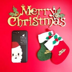 Christmas Iphone X Case.Details About Iphone X Case Christmas Season Creative Design Black Santa Claus Brand New Case