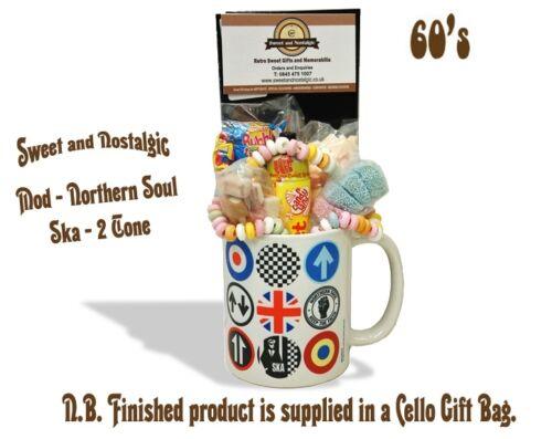 Ska icons Mug with 1960/'s Retro Sweets. Northern Soul Mod