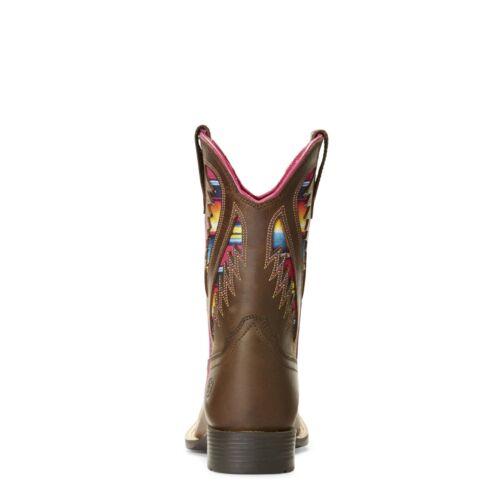 Ariat® Kid/'s Quickdraw VentTEK Brown Serape Cowgirl Boots 10027306