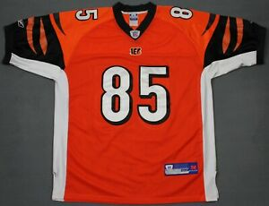 new concept 7a53a cb1c0 Details about Chad Johnson Ocho Cinco Reebok Authentic Sewn Cincinnati  Bengals NFL Jersey 52