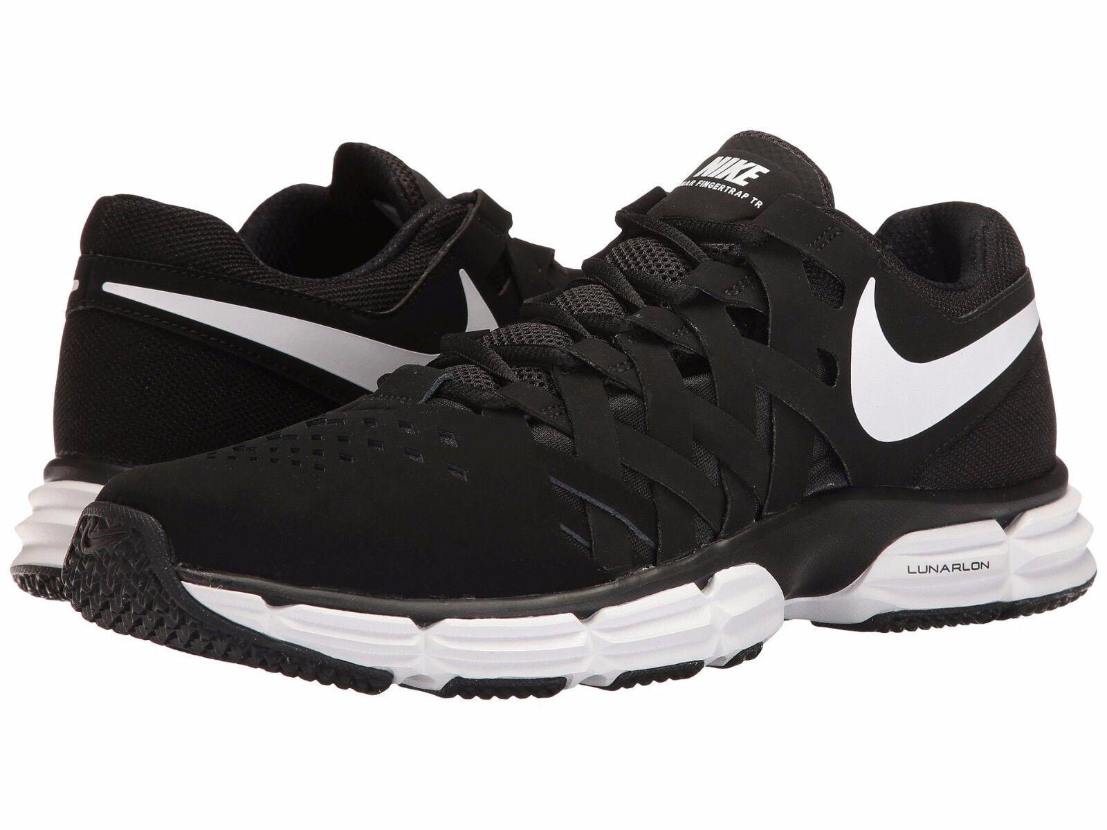 NIB Men's Nike Lunar Fingertrap TR Running Shoes Revolution Black