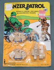 Vintage Larami Corp German Panzer Patrol Tan Toy Soldiers on Motorcycles