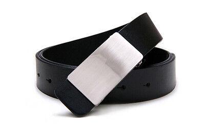 Men First-rate Metal Autokinetic Buckle Casual PU Leather Urban Buckle Belts DAU