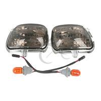 Smoke Front Side Turn Signal Lights For Honda Goldwing Gl 1800 01-14 F6b 13-15