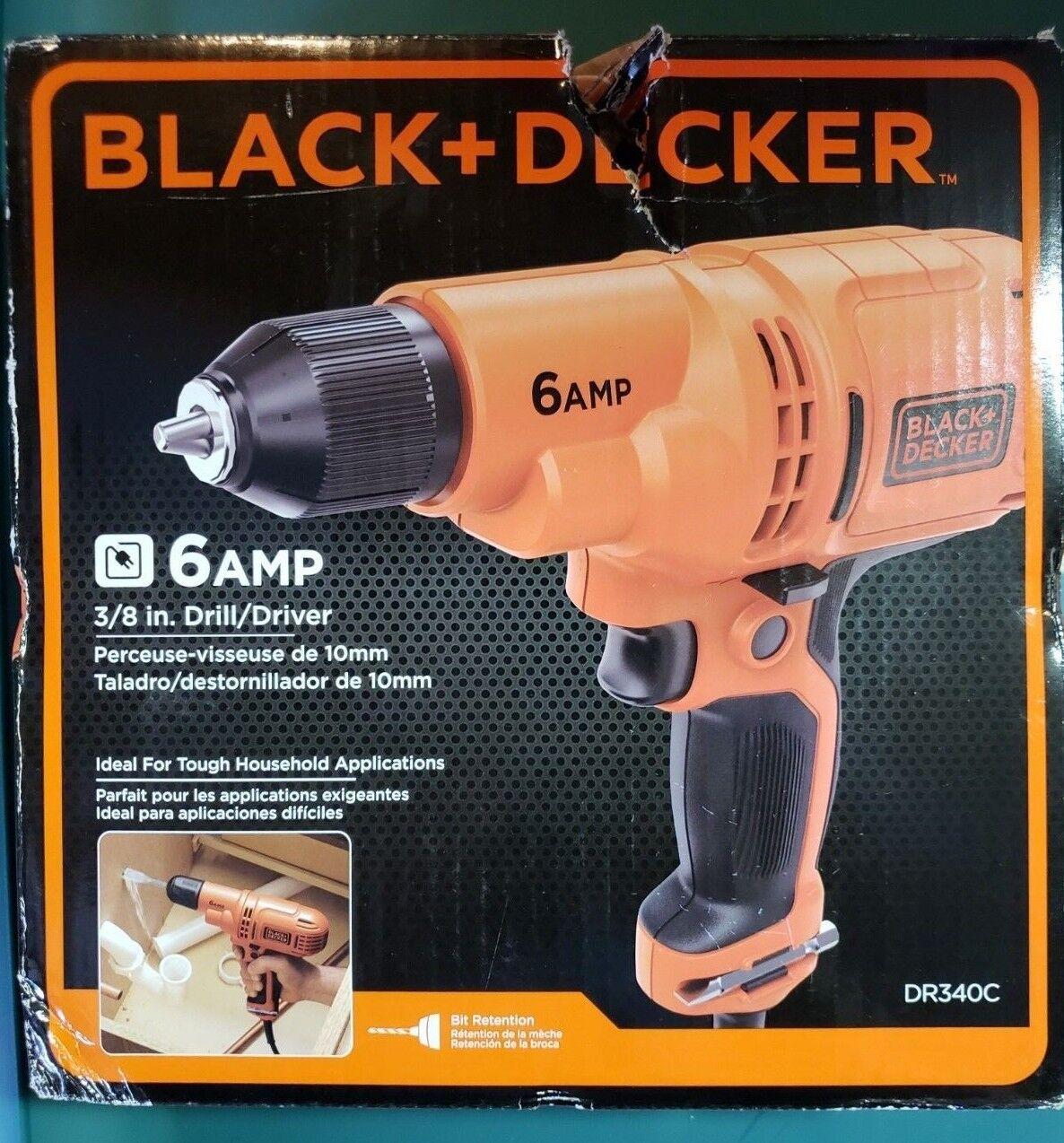 BLACK+DECKER DR340C  6.0 Amp 3//8 Drill//Driver with BLACK+DECKER 71-966 Drilling and Screwdriving Set 66-Piece Bit Set