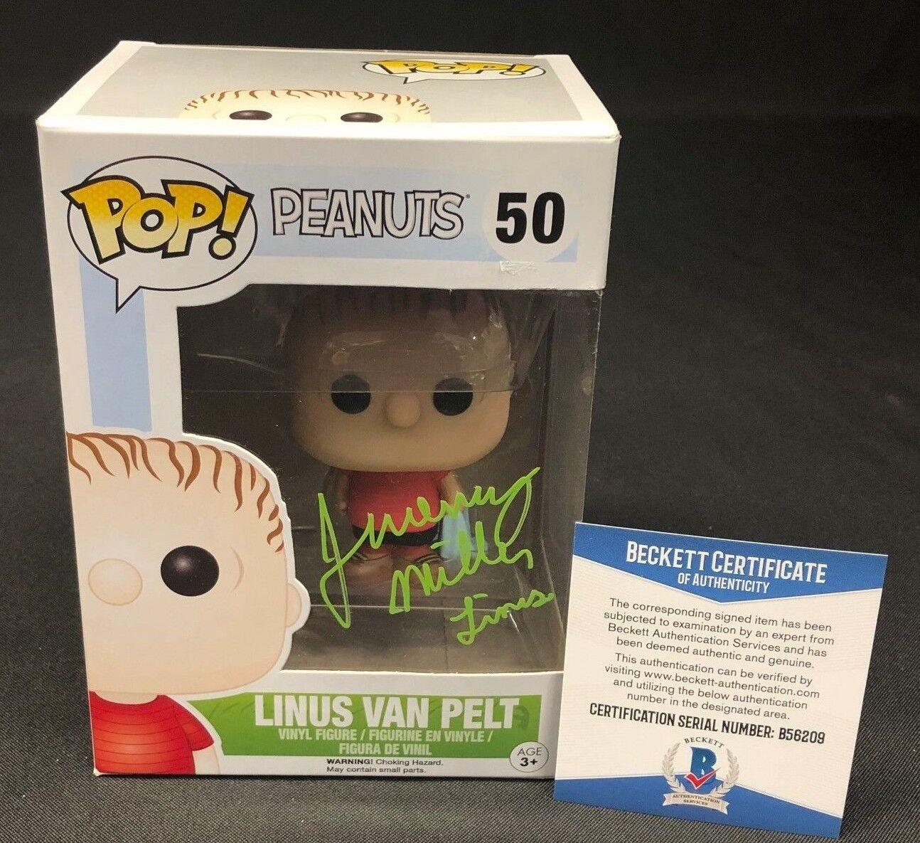 Jeremy Miller Signed Charlie Brown Peanuts Linus Van Pelt Funko Pop
