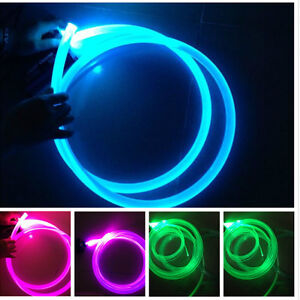 Image is loading 3mm-3mts-10ft-Car-Home-LED-Lighting-Decoration- & 3mm 3mts 10ft Car Home LED Lighting Decoration Side Glow Fiber Optic ...