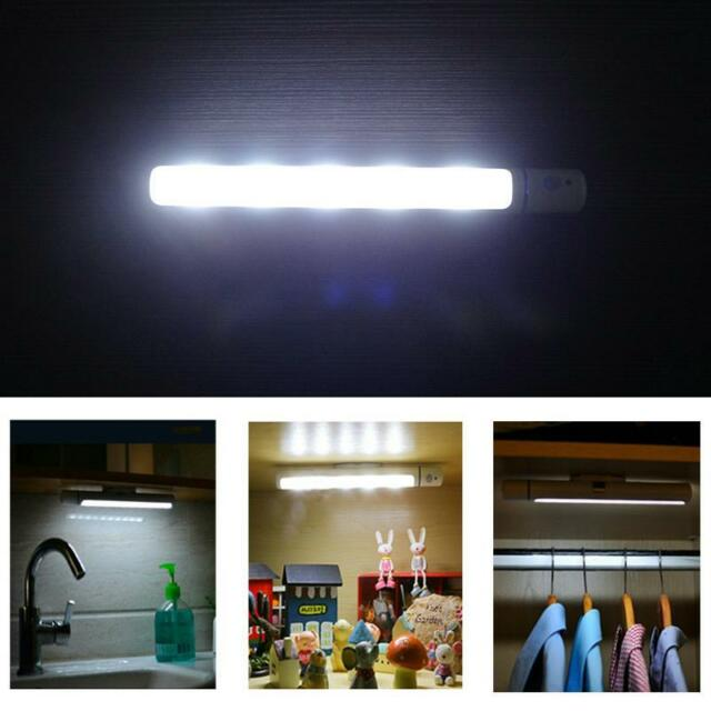Motion Sensor Night Light Potable Led Closet Lights Wall Lamps
