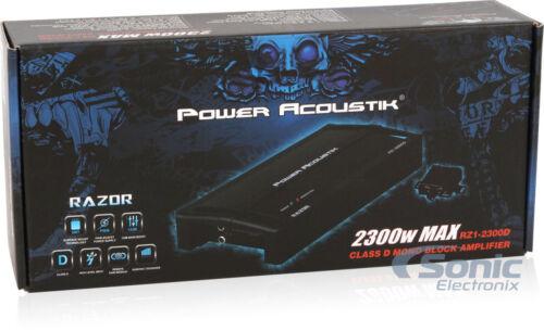 Power Acoustik RZ1-2300D 2300 Watts Monoblock Full Range Class D Car Amplifiers