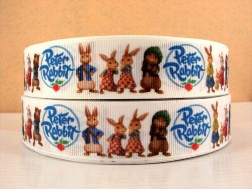 Headbands hair bows clips Fabrication Carte 1 mètre Peter Rabbit Ruban Taille 1 in environ 2.54 cm
