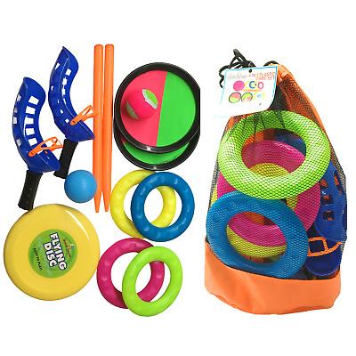4:1 Garden and Beach Games Ring Toss Frisbee Pelota & Catch Ball Family Fun 1147