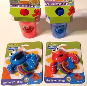 Baby Cookie Monster Sesame Street Sippy Cup Blue 8oz Spill Proof Plastic Baby Toddler Fancy Colours