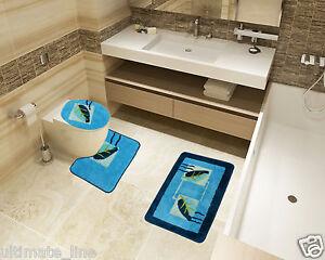 Toilette Da Bagno : Bath mat toilet rug set 2 & 3 piece non slip bathroom pedestal