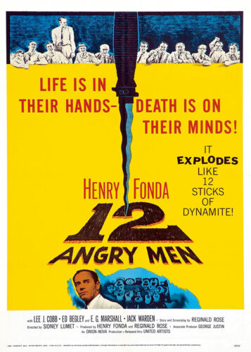 Vintage 12 Angry Men Classic Movie Film Poster Print Picture A3 A4 Posters