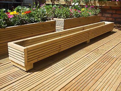 6ft Long, Wooden Decking/Garden Planter/Trough/Window Box, Herb/Flower Pot.