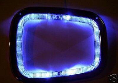 BLUE LED CHROME GEAR SURROUND FOR KIA CLARUS