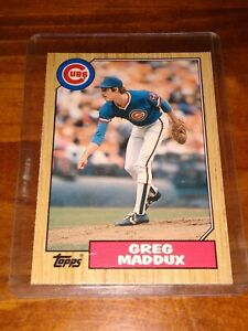 1987-Topps-Traded-70T-Greg-Maddux-Chicago-Cubs-RC-Rookie
