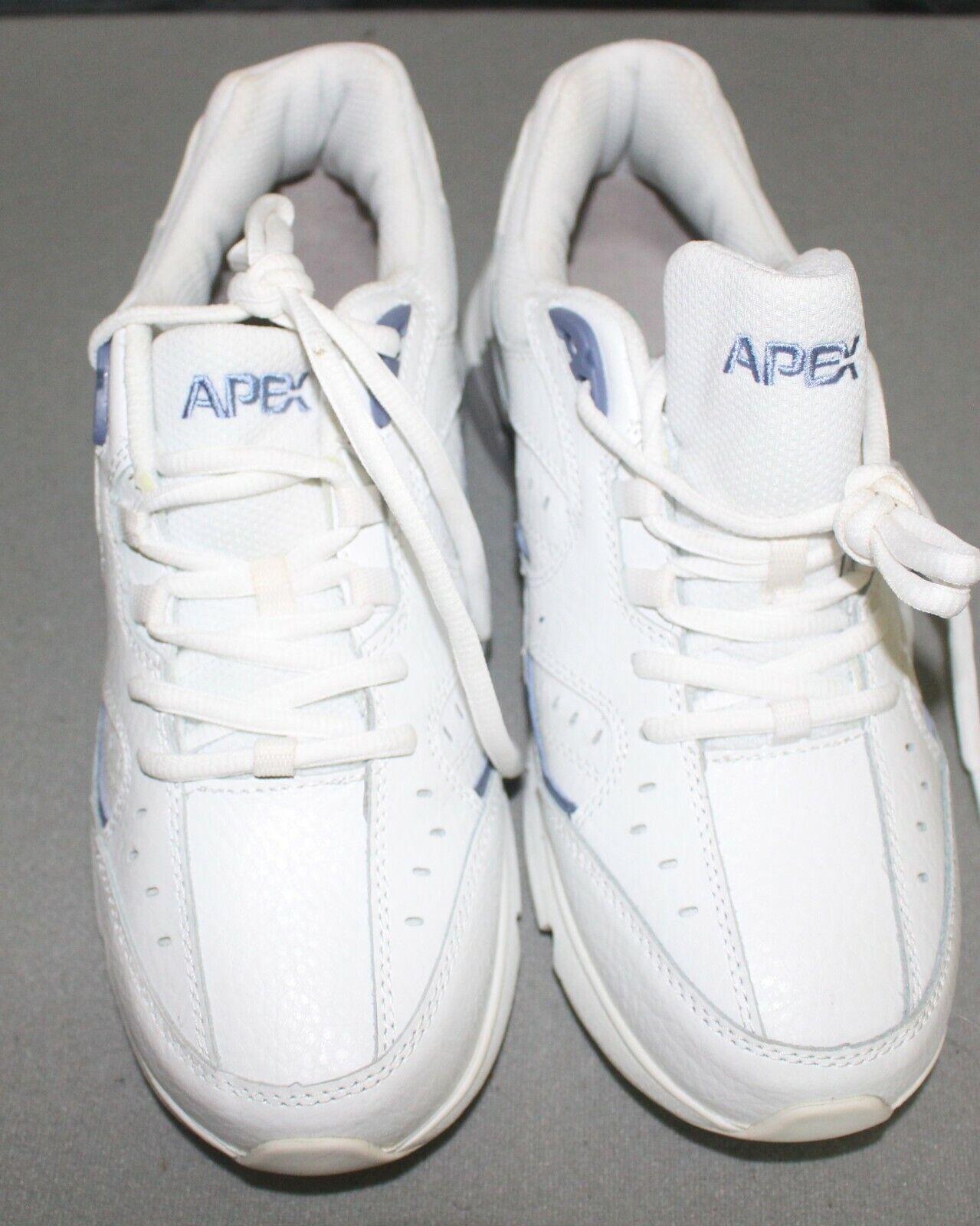 Apex Mujer V854 blancoo Zapatos Para caminar Cuero Medio Con Cordones bígaro