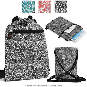 d18103d8ac62 Details about 10 inch Tablet Paisley Protective Drawstring Backpack Case  Cover BG10P2-3