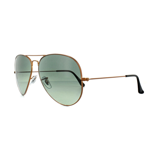f92d849062 Ray-Ban Aviator Large Metal II Men s Gradient Sunglasses with Bronze-Copper  Frame and Gray Lens