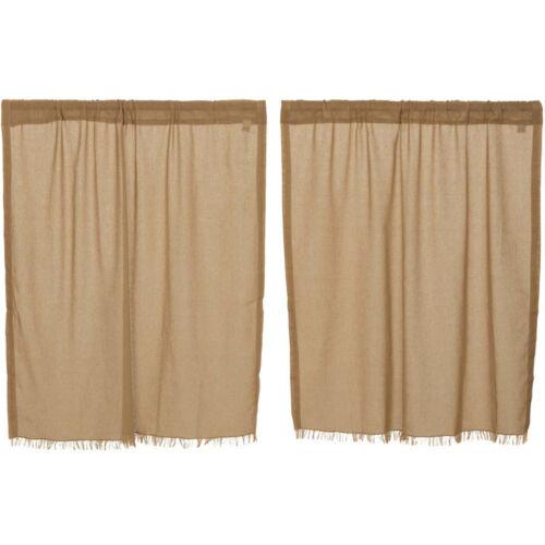 "36/"" x 36/"" Tobacco Cloth Khaki Tier Set by VHC Brands"