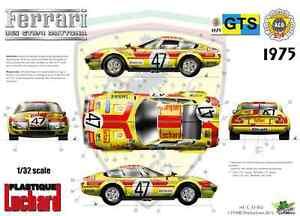 """[FFSMC Productions] Decals 1/32 Ferrari 365 GTB/4 """"Luchard"""" 24 Heures du Mans 75"""