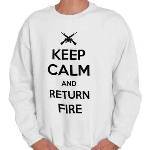 Keep Calm Return Fire 2nd Amendment Firearms Cute Gift Pullover Sweatshirt