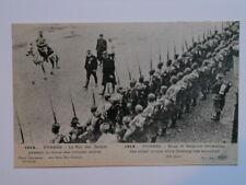 FURNES :  Le Roi des Belges passant la Revue des Troupes Alliées au son du Canon