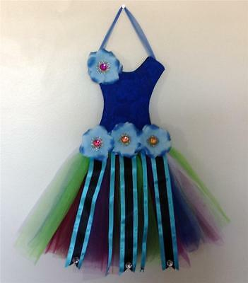 Peacock Tutu Hair Bow Holder Bow Organizer Baby Shower Birthdays Clips