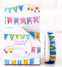 15mmX8M Festival Banner Bunting colored flag Washi tape Masking Adhesive Tape