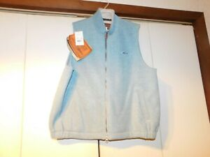 Outback-Trading-Company-Vest-Women-039-s-XL-Summit-Fleece-Vest-Lt-Blue-Zip-Front