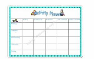 a4 wipeable weekly activity planner eyfs childminder childminding