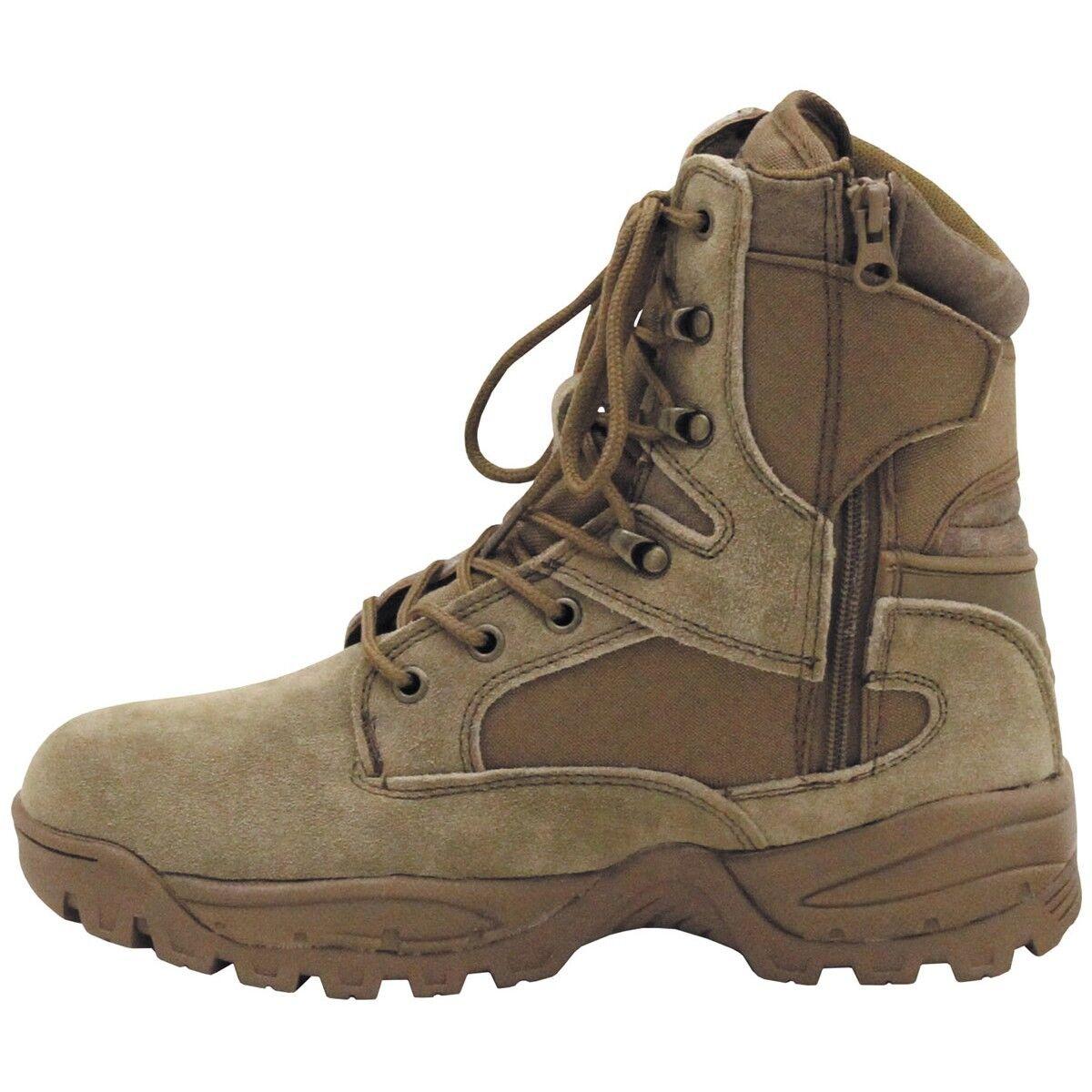 MFH Stivali Scarponi militari Anfibi uomo Zipper donna militari Scarponi Trekking Mission Boots 738fa5